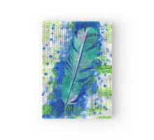 Collage Feather Hardcover Journal