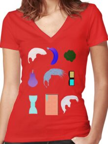 Inverted Icons Women's Fitted V-Neck T-Shirt