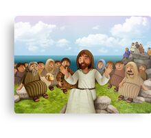 The miraculous multiplication of loaves and fishes Metal Print