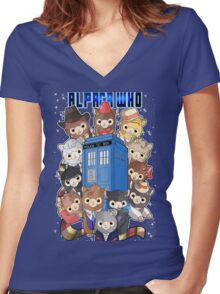 Alpaca Who Women's Fitted V-Neck T-Shirt
