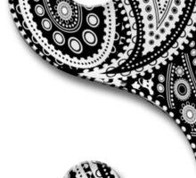 Paisley Yin Yang Yin Yang Sticker