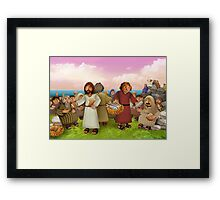 The miraculous multiplication of loaves and fishes Framed Print