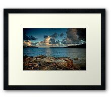Clouds over the heads Framed Print