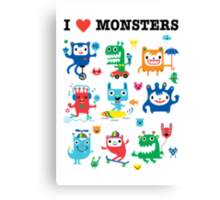 Monster Love Canvas Print