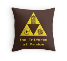 The Triforce of Fandom (Superwholock) Throw Pillow