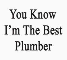 You Know I'm The Best Plumber by supernova23