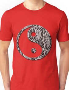 Paisley Yin Yang Yin Yang Unisex T-Shirt