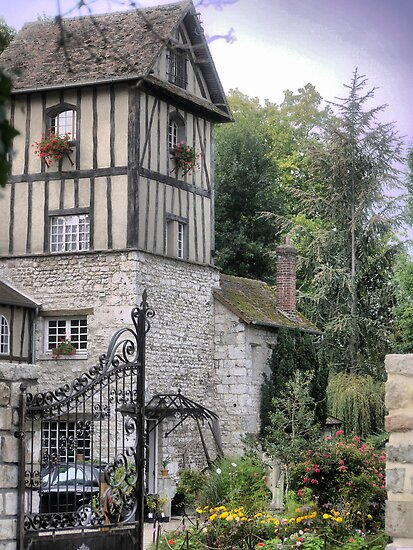 Le Moulin Des Chennevie'res.....The Front Entrance by Larry Lingard-Davis