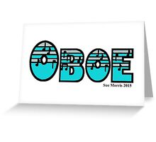 Oboe Silver & Turquoise I Greeting Card