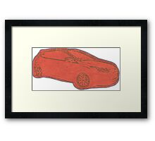 Focus ST Mk3 Drawing - Race Red Framed Print