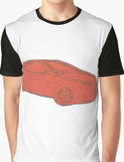 Focus ST Mk3 Drawing - Race Red Graphic T-Shirt