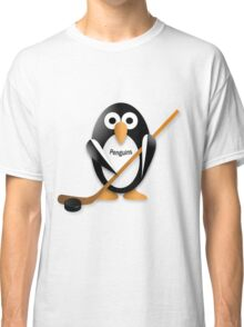 Penguin with hockey stick Classic T-Shirt