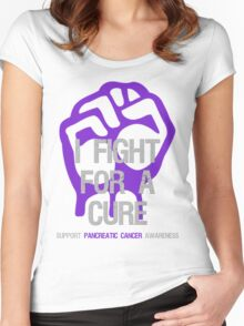 I Fight For A Cure - Pancreatic Cancer Women's Fitted Scoop T-Shirt