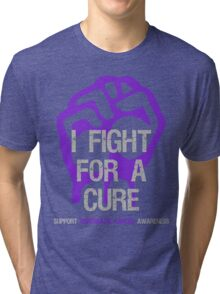 I Fight For A Cure - Pancreatic Cancer Tri-blend T-Shirt
