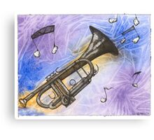 Trumpet Notes Canvas Print