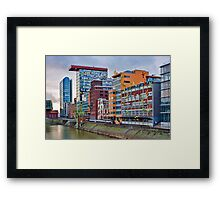 Duesseldorf Media Harbour, Flossis Framed Print
