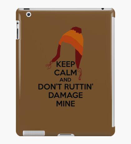 Jane Cobb Firefly Keep Calm Design Brown iPad Case/Skin