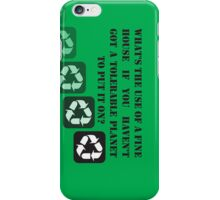 Our Earth Needs Saving iPhone Case/Skin