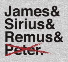 James & Sirius & Remus & X. One Piece - Long Sleeve
