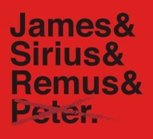 James & Sirius & Remus & X. Baby Tee