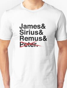 James & Sirius & Remus & X. T-Shirt
