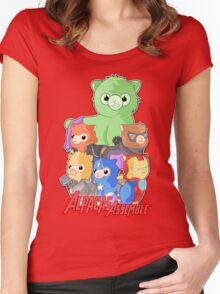 Alpacas Assemble Women's Fitted Scoop T-Shirt
