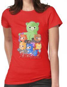 Alpacas Assemble Womens Fitted T-Shirt