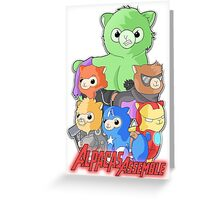 Alpacas Assemble Greeting Card