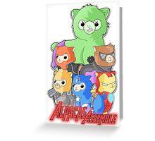 Alpacas Assemble Greeting Card