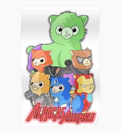 Alpacas Assemble Poster