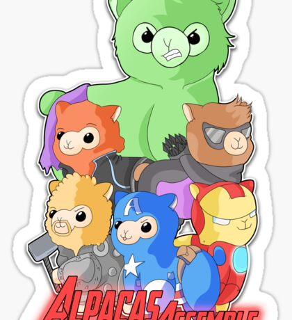 Alpacas Assemble Sticker