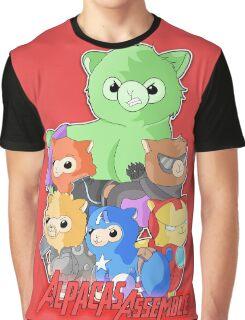 Alpacas Assemble Graphic T-Shirt