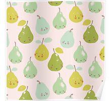 Cute Pears Poster