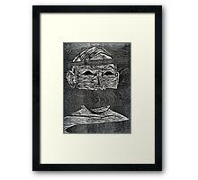 Woodcut Print by Eddie Garland Framed Print
