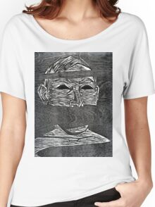 Woodcut Print by Eddie Garland Women's Relaxed Fit T-Shirt