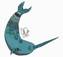 Narwhal in Sharpie  by JasmineMDeLeon