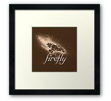 Firefly Silhouette Framed Print