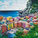 Cosy Cove from Cinque Terre, Italia by Josh De Pasquale