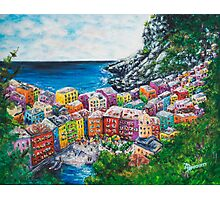 Cosy Cove from Cinque Terre, Italia Photographic Print