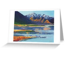 Mt Erebus and Lake Tekapo Greeting Card
