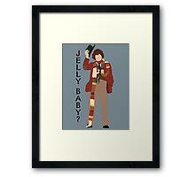 Doctor Who Tom Baker Jelly Baby minimalist Framed Print