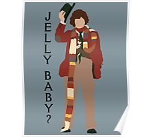 Doctor Who Tom Baker Jelly Baby minimalist Poster