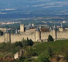 The Walls of Carcassonne by hans p olsen
