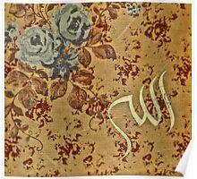Allah Calligraphy Vintage Poster