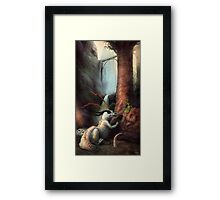 Frigga and the Water Dragon Framed Print