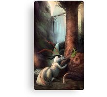 Frigga and the Water Dragon Canvas Print