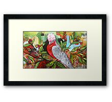 Just a Gallah Speaking Framed Print