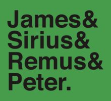 James & Sirius & Remus & Peter. Baby Tee