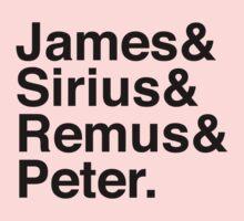 James & Sirius & Remus & Peter. One Piece - Long Sleeve