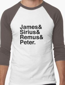 James & Sirius & Remus & Peter. Men's Baseball ¾ T-Shirt